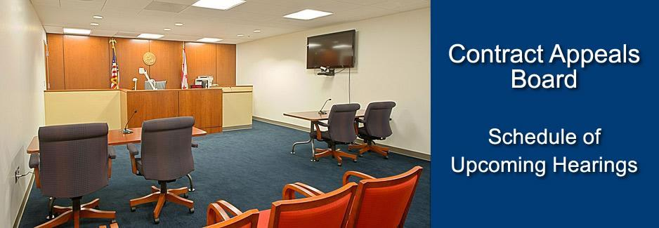 Contract Appeals Board Upcoming Hearings