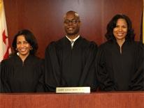 Judge Maxine E. McBean, Chief Judge Marc D. Loud and Judge Monica Parchment